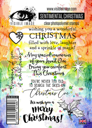 Visible Image - Sentimental Christmas - Clear Polymer Stamp Set