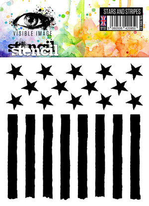 Visible Image - Stars and Stripes - Stencil