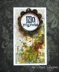 Visible Image - No Regrets - Clear Polymer Stamp Set