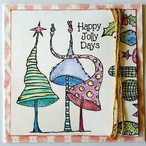 PaperArtsy - Zinski Art 18 - Rubber Cling Mounted Stamp Set
