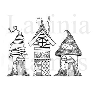 Lavinia - Zen Houses - Clear Polymer Stamp