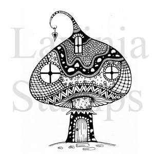 Lavinia - Zen Large Mushroom House - Clear Polymer Stamp