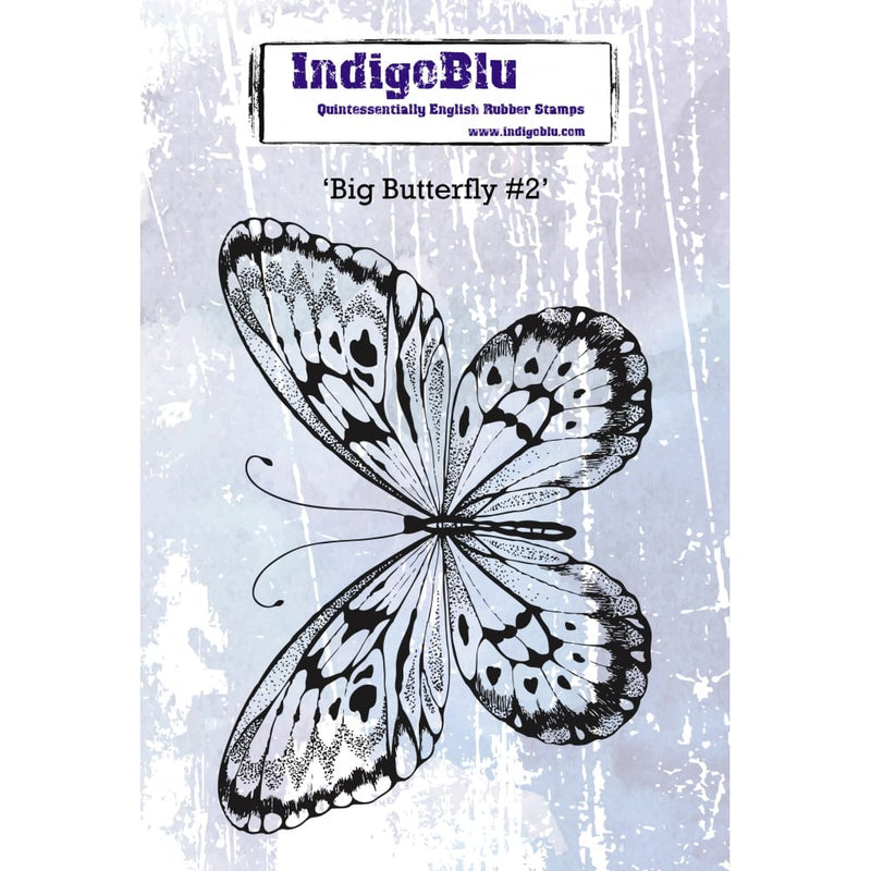 IndigoBlu - Cling Mounted Stamp - Big Butterfly #2