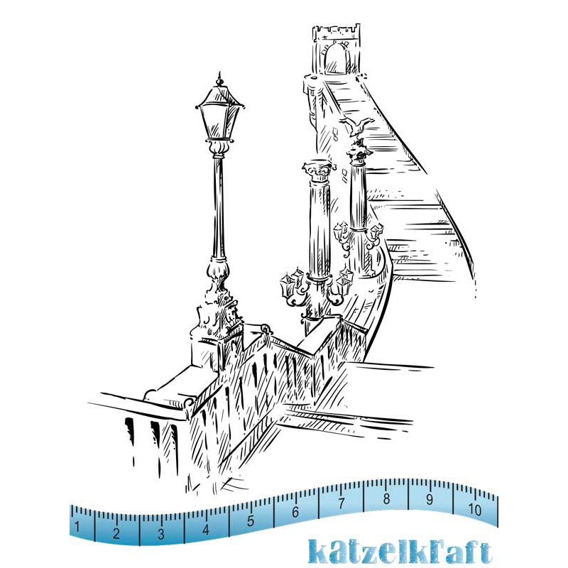 Katzelkraft - Budapest - Unmounted Red Rubber Stamp Set