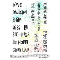 Katzelkraft - Carpe Diem - Everyday Quotes - Unmounted Red Rubber Stamp Set