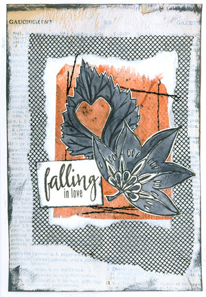 L'Encre et L'Image - A6 - Clear Stamp Set - Falling in Love - Seasons