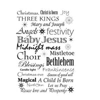 Lavinia - Christmas Words - Clear Polymer Stamp