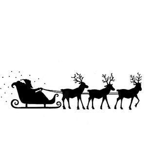 Lavinia - Christmas Night - Santa's Sleigh - Clear Polymer Stamp