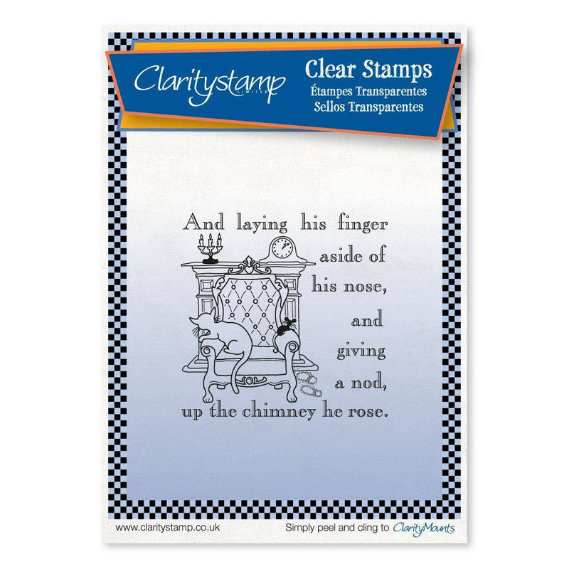 Claritystamp - Clear Stamp - A6 - Twas the Night Before Christmas - Up the Chimney