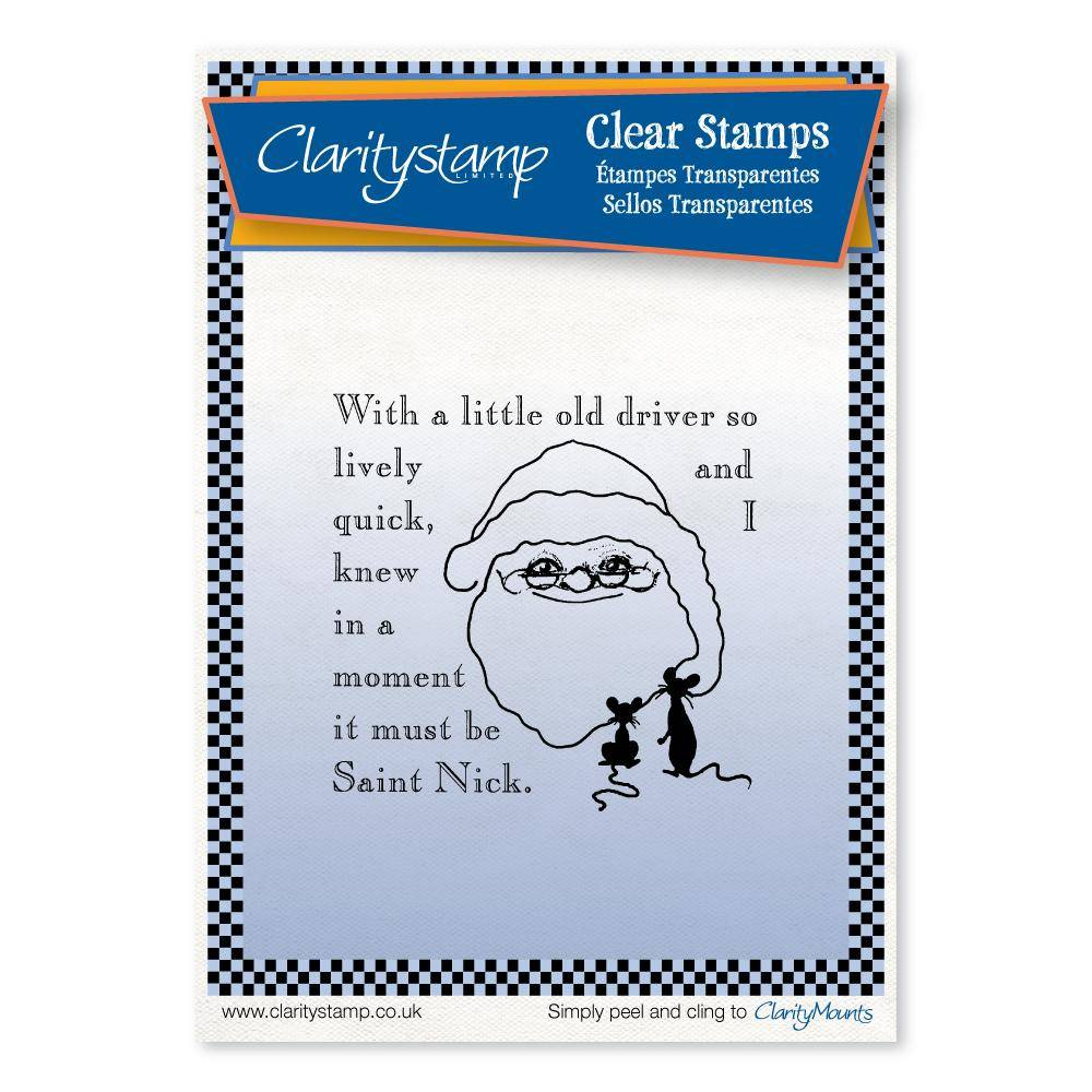 Claritystamp - Clear Stamp - A6 - Twas the Night Before Christmas - Little Old Driver