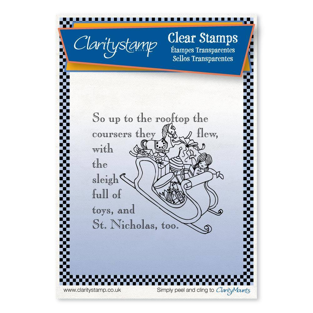 Claritystamp - Clear Stamp - A6 - Twas the Night Before Christmas - Rooftop