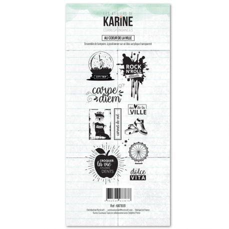Les Ateliers De Karine - Clear Stamp Set - In the Heart of the City