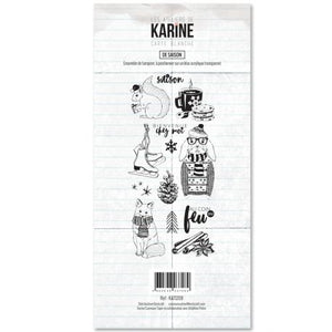 Les Ateliers De Karine - Clear Stamp Set - It's the Season