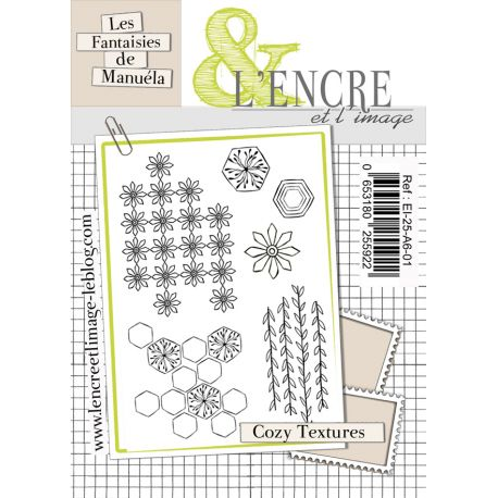 L'Encre et L'Image - Clear Stamp Set - A6 - Cozy Textures - Cozy Days