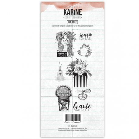 Les Ateliers De Karine - Clear Stamp Set - Bohemian Spirit - Natural