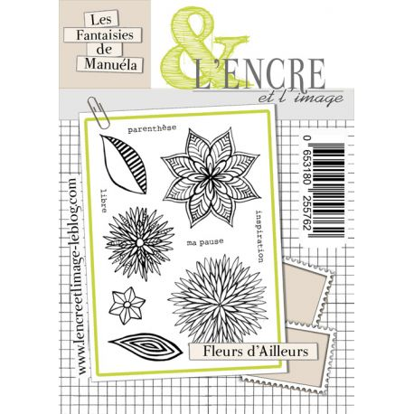 L'Encre et L'Image - A6 - Clear Stamp Set - Flowers from Elsewhere - Fancy