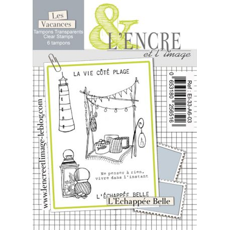 L'Encre et L'Image - A6 - Clear Stamp Set - Beach Life