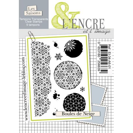 L'Encre et L'Image - Clear Stamp Set - A6 - Snowballs