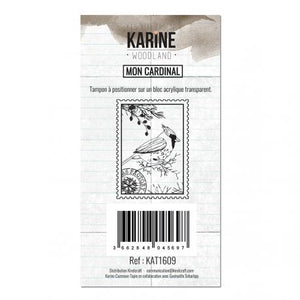 Les Ateliers De Karine - Clear Stamp - Woodland Cardinal
