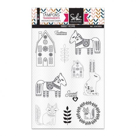 Sokai - Clear Stamp Set - A6 - Sweet Home