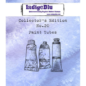 IndigoBlu - Cling Mounted Stamp - Collector's Edition No. 20 - Paint Tubes