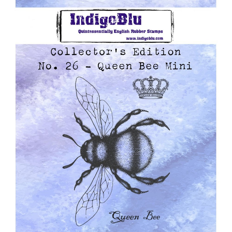 IndigoBlu - Cling Mounted Stamp - Collector's Edition No. 26 Queen Bee Mini