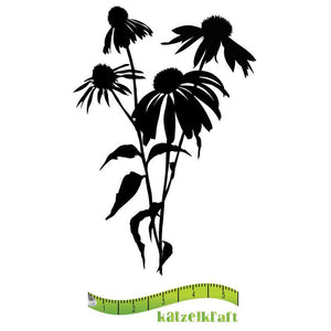 Katzelkraft - Coneflowers -  Unmounted Red Rubber Stamp