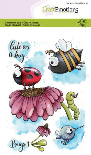 Craft Emotions - Clear Polymer Stamps - Bugs 1