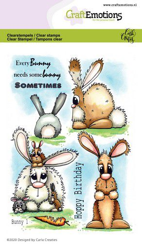 Craft Emotions - Clear Polymer Stamps - Bunny 1