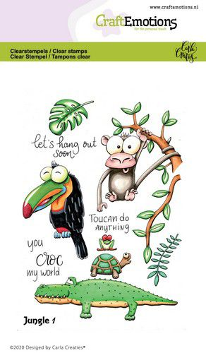 Craft Emotions - Clear Polymer Stamps - Jungle 1