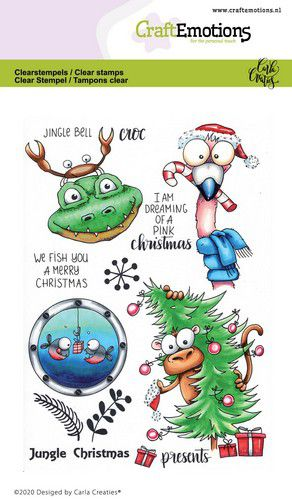 Craft Emotions - Clear Polymer Stamps - Jungle Christmas