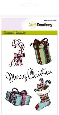 Craft Emotions - Clear Polymer  Stamp - Christmas Gifts