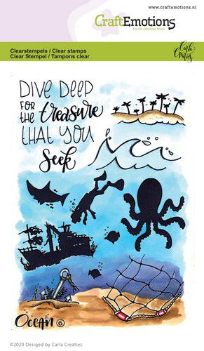 Craft Emotions - Clear Polymer Stamp Set - Ocean 6