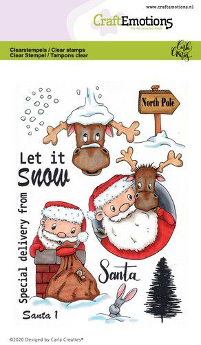 Craft Emotions - Clear Polymer Stamps - Santa 1