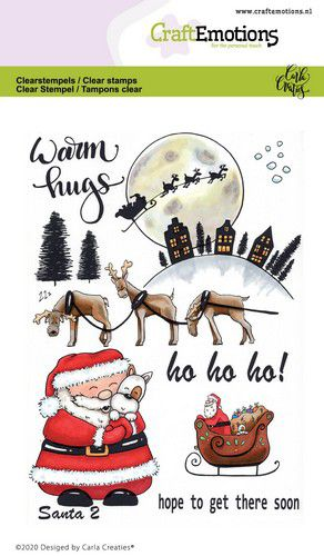 Craft Emotions - Clear Polymer Stamps - Santa 2