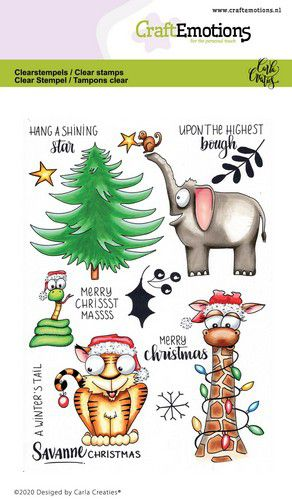Craft Emotions - Clear Polymer Stamps - Savannah Christmas