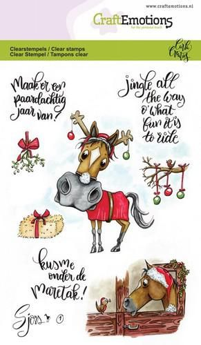 Craft Emotions - Clear Polymer Stamps - Christmas Horses