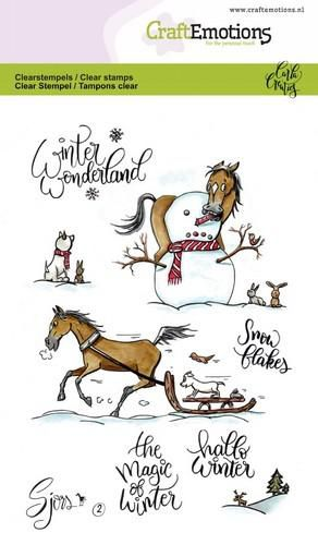 Craft Emotions - Clear Polymer Stamps - Winter Horses