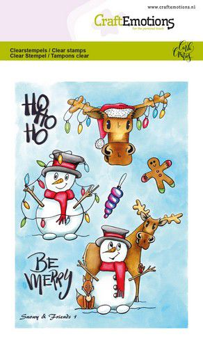 Craft Emotions - Clear Polymer Stamps - Snowy & Friends 1
