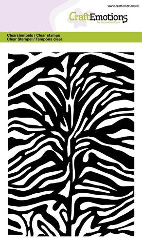 Craft Emotions - Clear Polymer Stamps - Tiger-Zebra Print Background Stamp