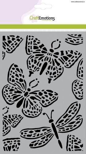 Craft Emotions - Stencil - Butterflies