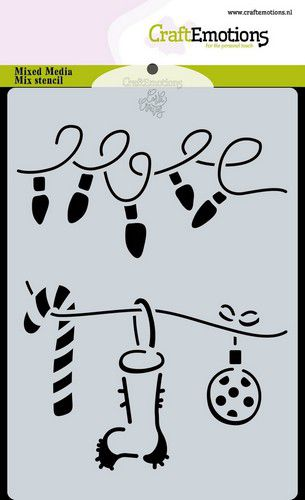 Craft Emotions - Stencil - Christmas Decorations