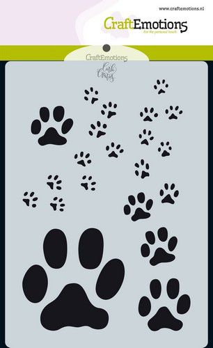 Craft Emotions - Stencil - Odey & Friends Paw Prints