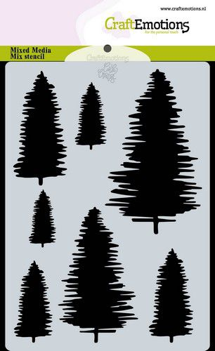 Craft Emotions - Stencil - Pine Trees