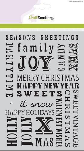 Craft Emotions - Stencil - Christmas Text