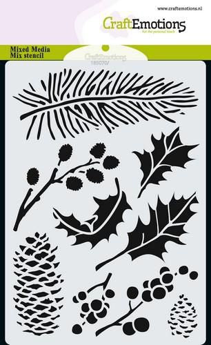 Craft Emotions - Stencil - Christmas Foliage