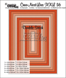 Crealies - Crea-Nest-Lies XXL - Double Stitched Rectangle Dies