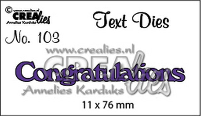 Crealies - Text Dies - Congratulations