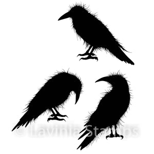 Lavinia - Crow Set - Clear Polymer Stamp