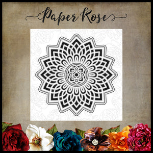 Paper Rose - Layered Mandala - Die